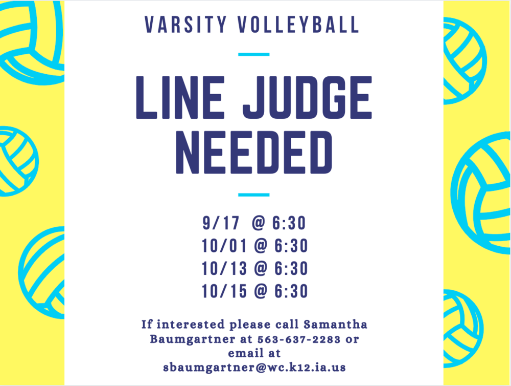 Line Judges Needed