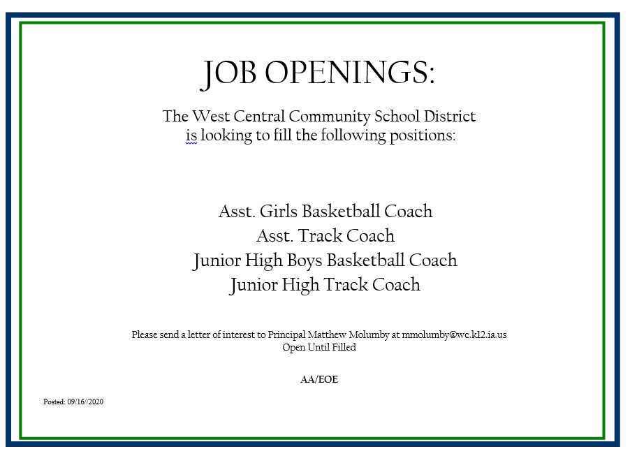 Current  Job Openings