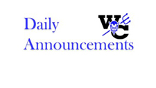 Daily Announcements March 13