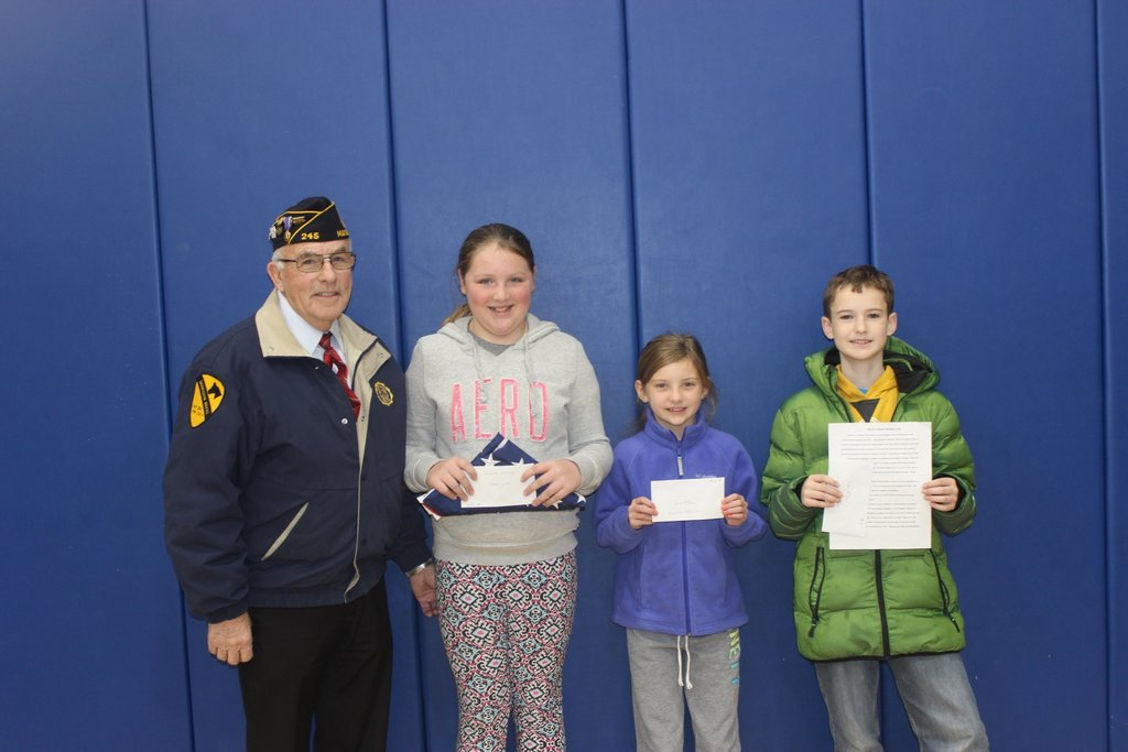 Winners of the 5th Grade Flag Essay Project