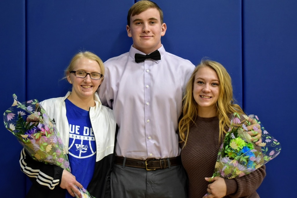 Seniors Cooper Ingels, Kaylin Kent-Thomas and Rosita Hepperle