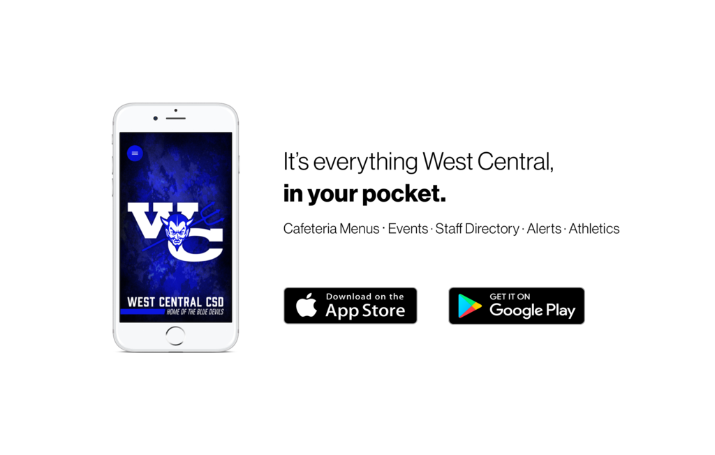 Download West Centrals new app in the App store or Play store.