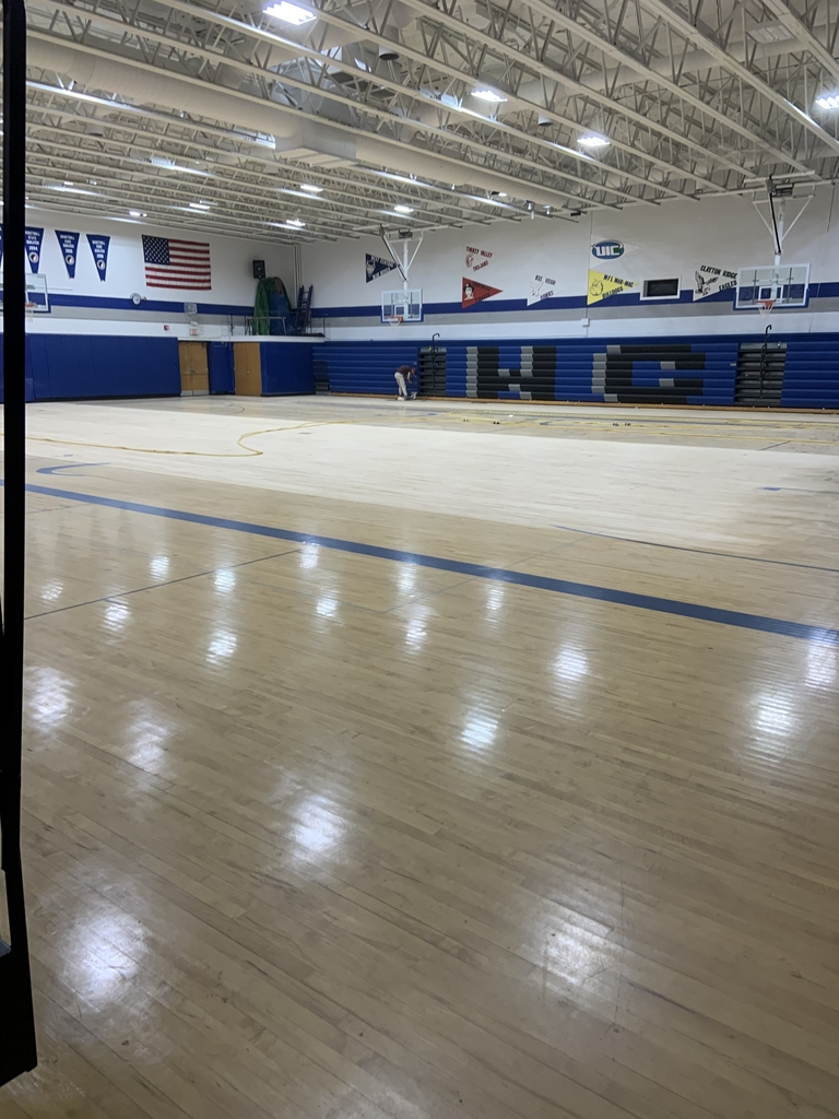 The sanding of the gym floor has started...Go Blue Devils!!!