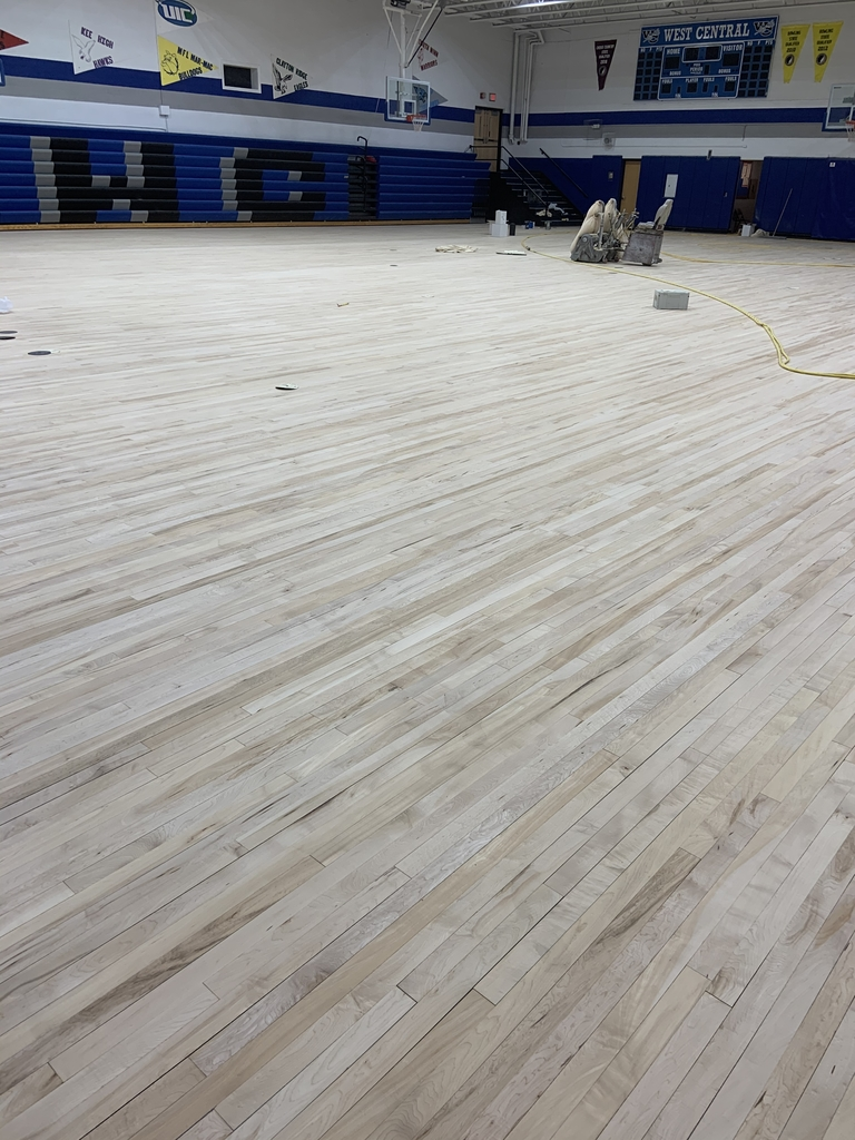 Gym floor before stain and paint