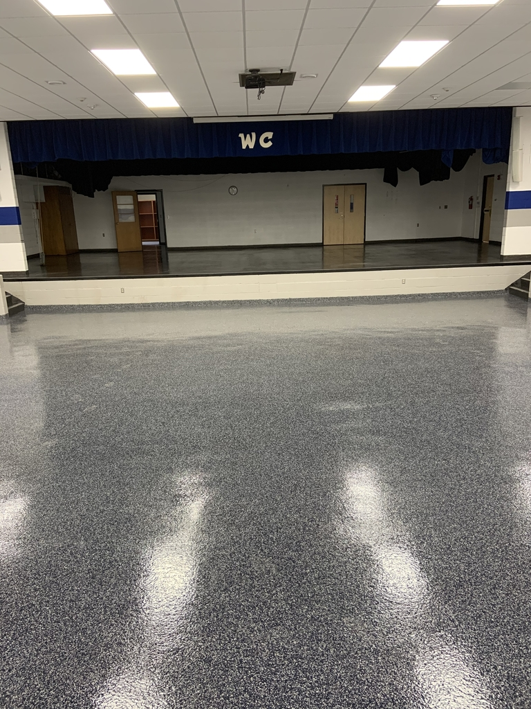 Epoxied floors in the auditorium is completed