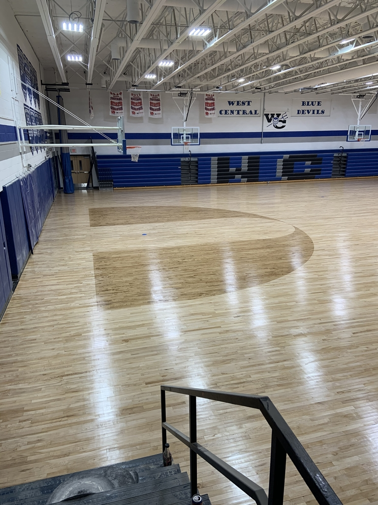 First coats of finish in the gymnasium.